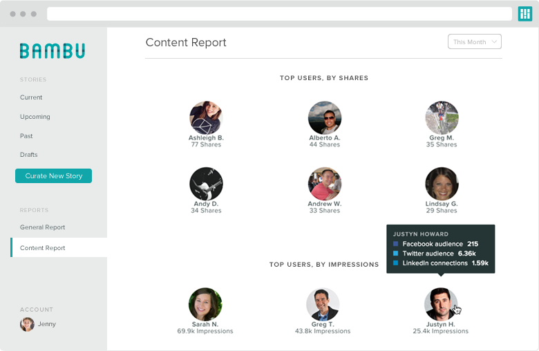 what is employee advocacy employee reach screenshot