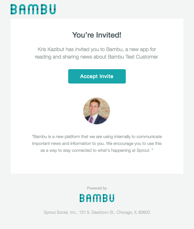 bambu invitation reminders
