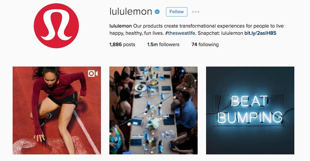 lululemon instagram example