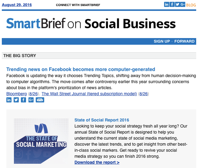 SmartBrief Newsletter