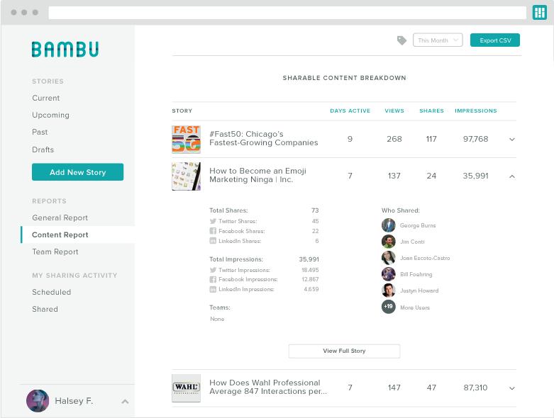 bambu shareable content breakdown screenshot