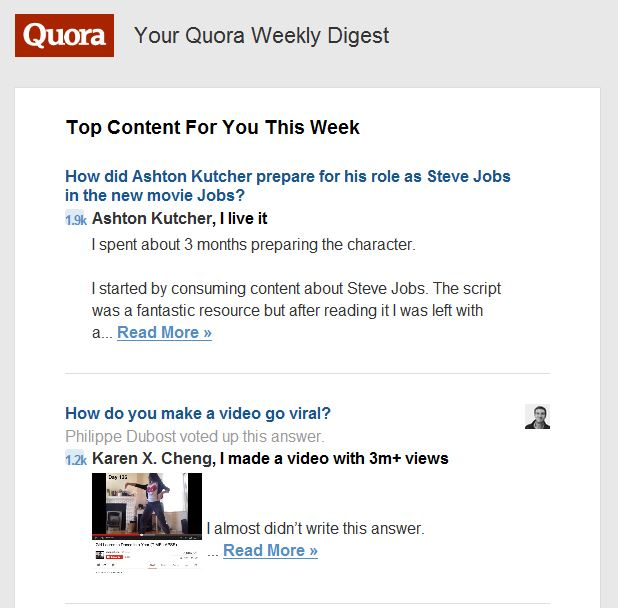 Quora Newsletter