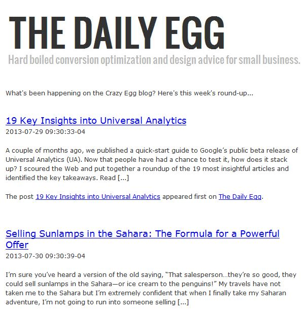 Ctazy Egg's Newsletter