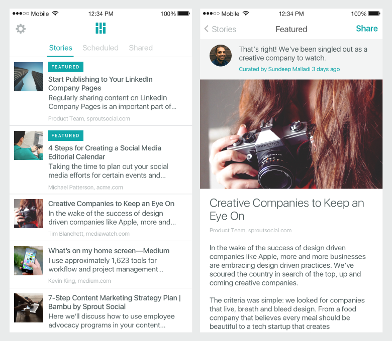bambu mobile app story feed