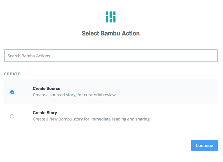 Create Bambu Source in Zapier