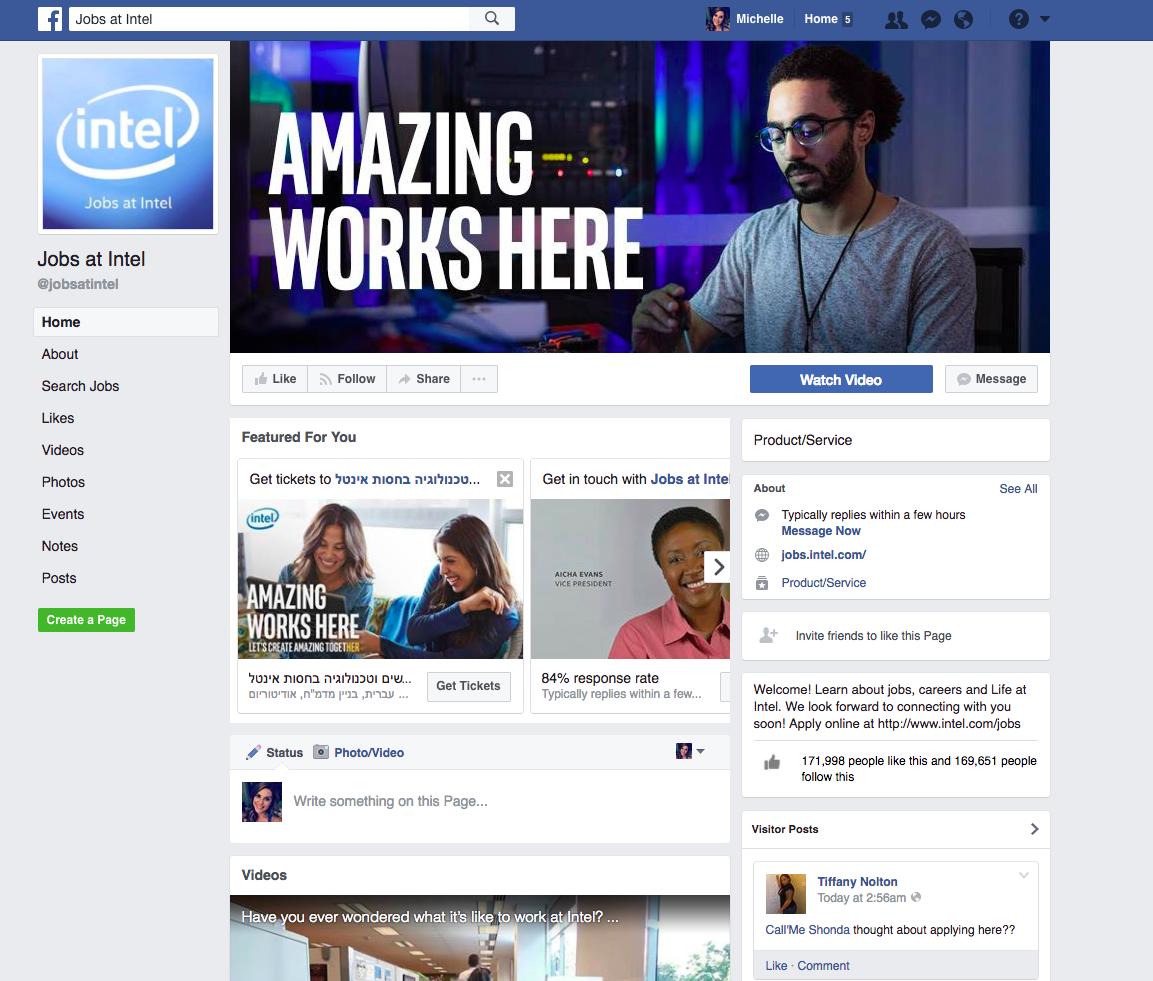 Intel facebook example