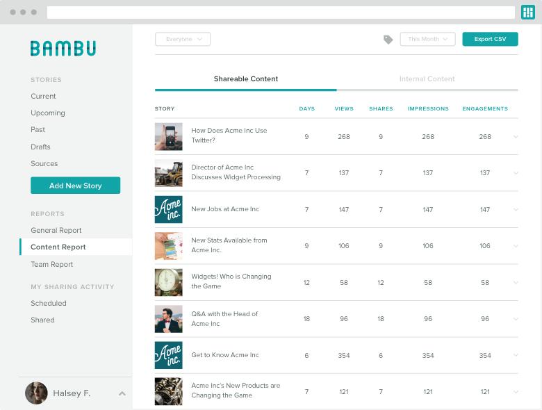 bambu content report
