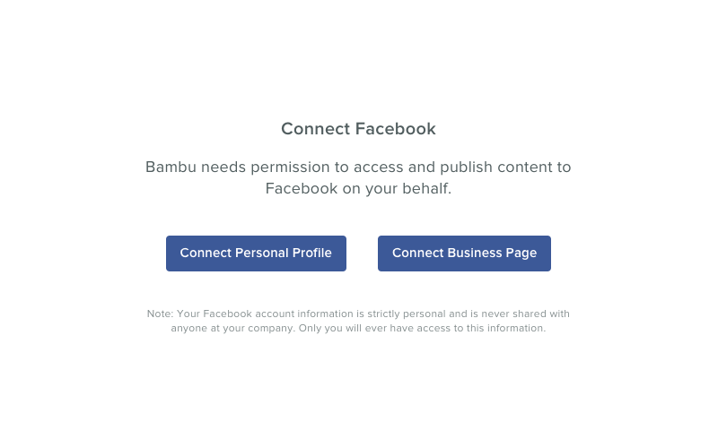bambu connect facebook pages