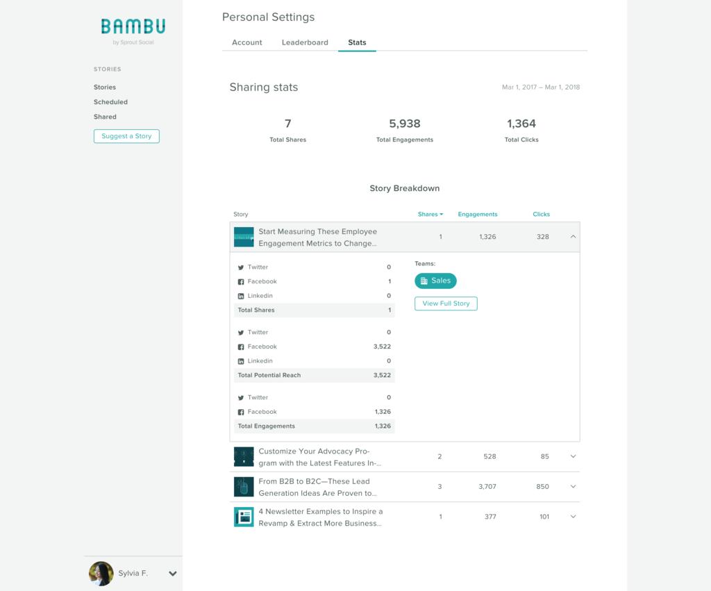 bambu personal stats screenshot